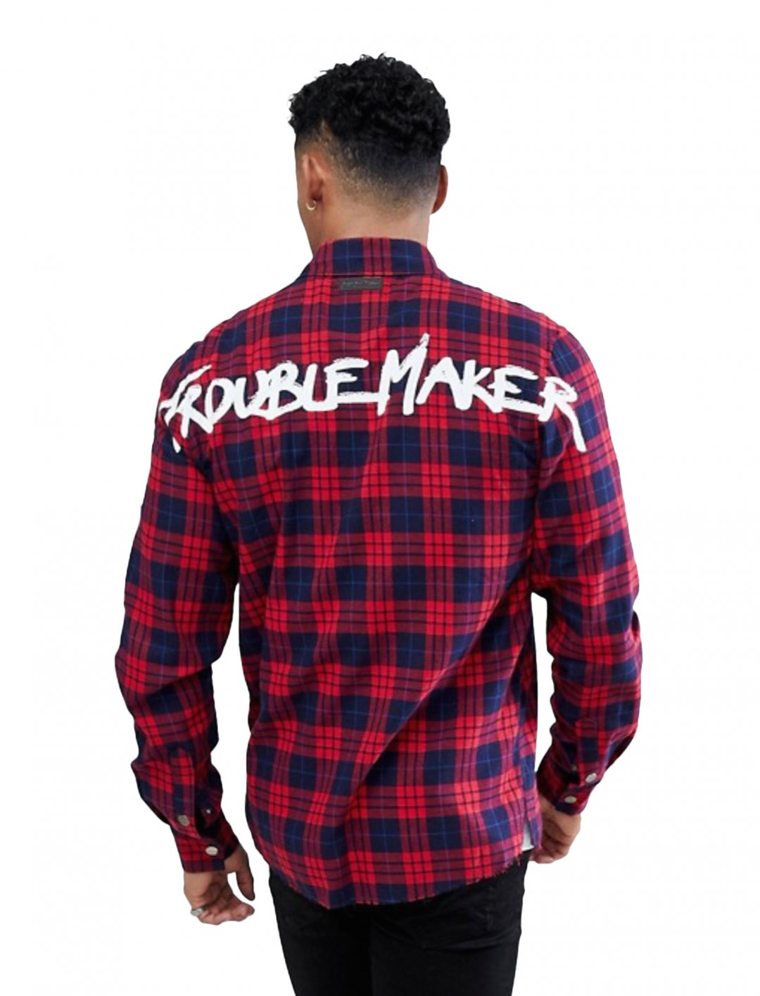 """Check Back Printed Shirt {""""id"""":5,""""product_section_id"""":1,""""name"""":""""Clothing"""",""""order"""":5} Just Junkies"""