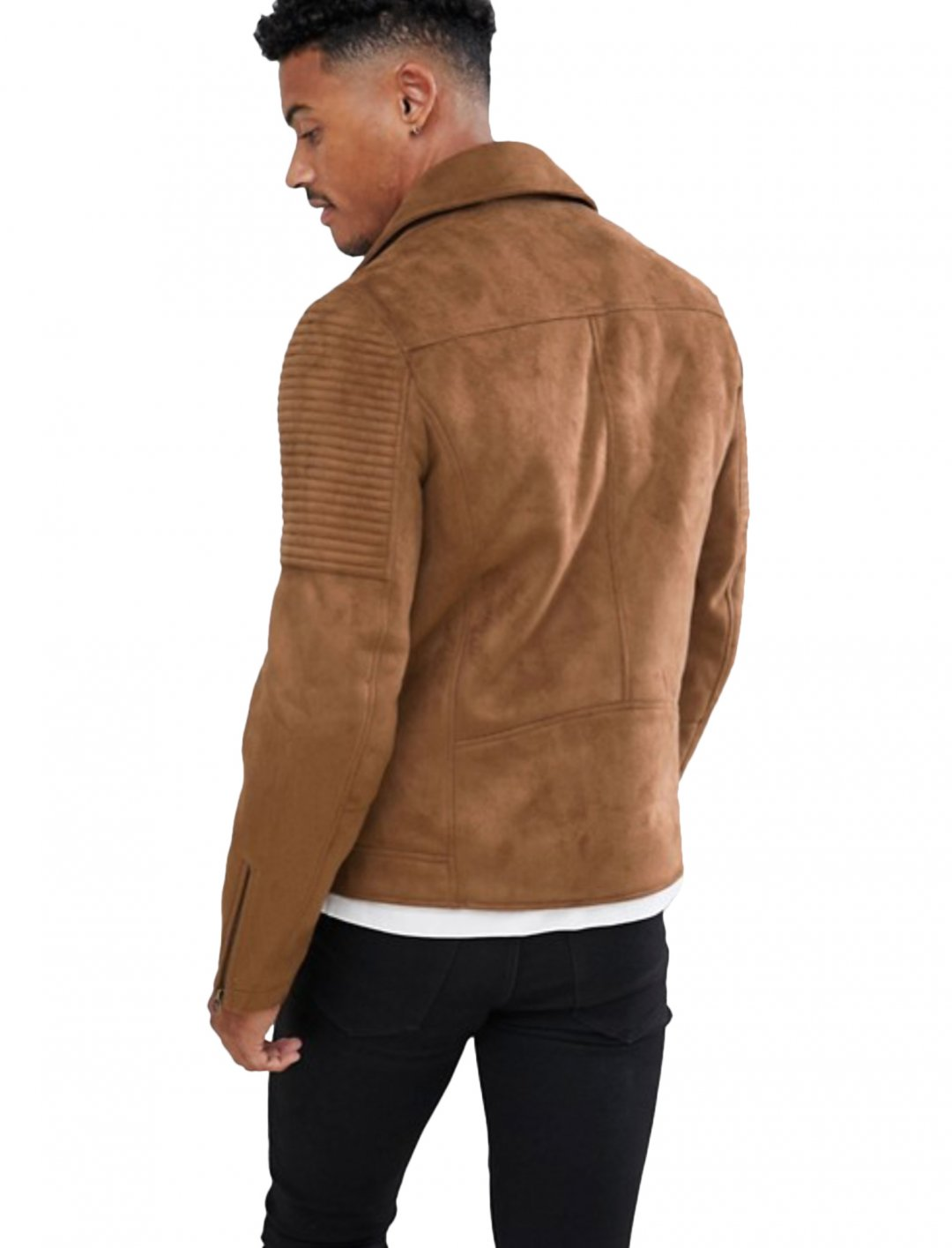 """Faux Suede Jacket {""""id"""":5,""""product_section_id"""":1,""""name"""":""""Clothing"""",""""order"""":5} ASOS DESIGN"""