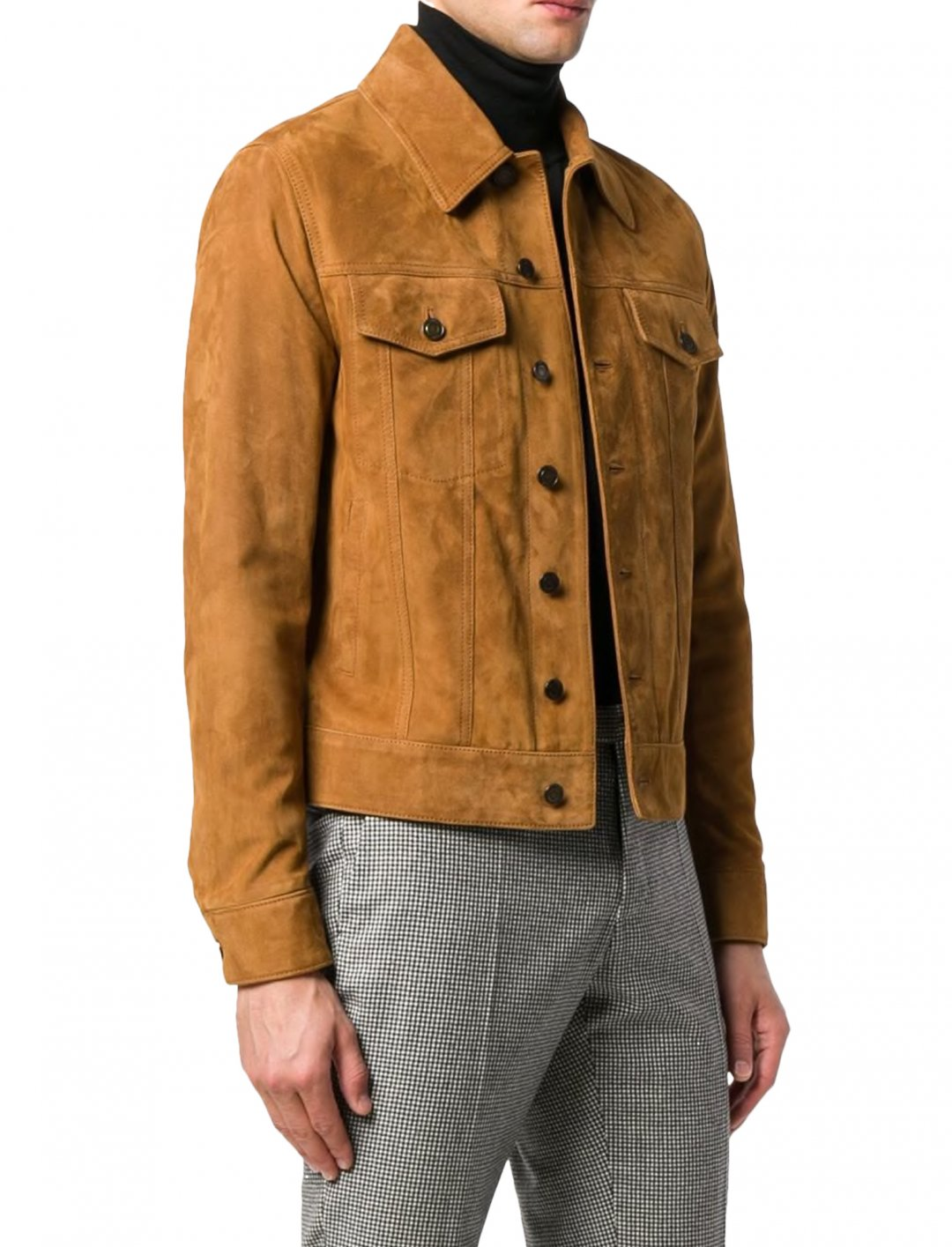 "Joel's Nubuck Leather Jacker {""id"":5,""product_section_id"":1,""name"":""Clothing"",""order"":5} Saint Laurent"