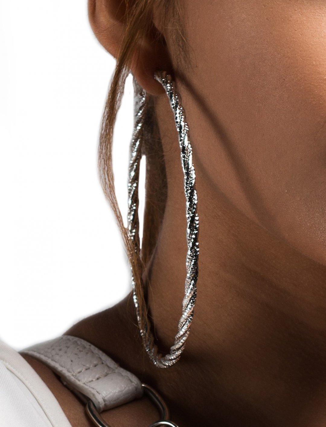 "Leslie Grace's Oversized Hoop Earrings {""id"":10,""product_section_id"":1,""name"":""Jewellery"",""order"":10} AKIRA"
