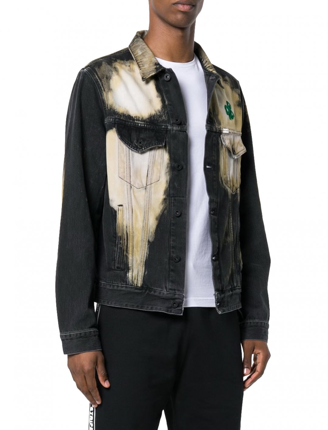 """Zabdiel's Bleach Denim Jacket {""""id"""":5,""""product_section_id"""":1,""""name"""":""""Clothing"""",""""order"""":5} Off-White"""