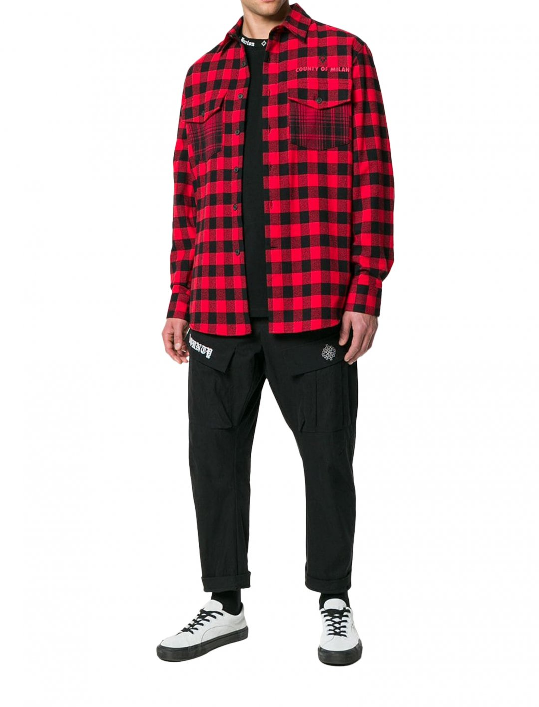 """Zabdiel's Plaid Dogo Shirt {""""id"""":5,""""product_section_id"""":1,""""name"""":""""Clothing"""",""""order"""":5} Marcelo Burlon County of Milan"""