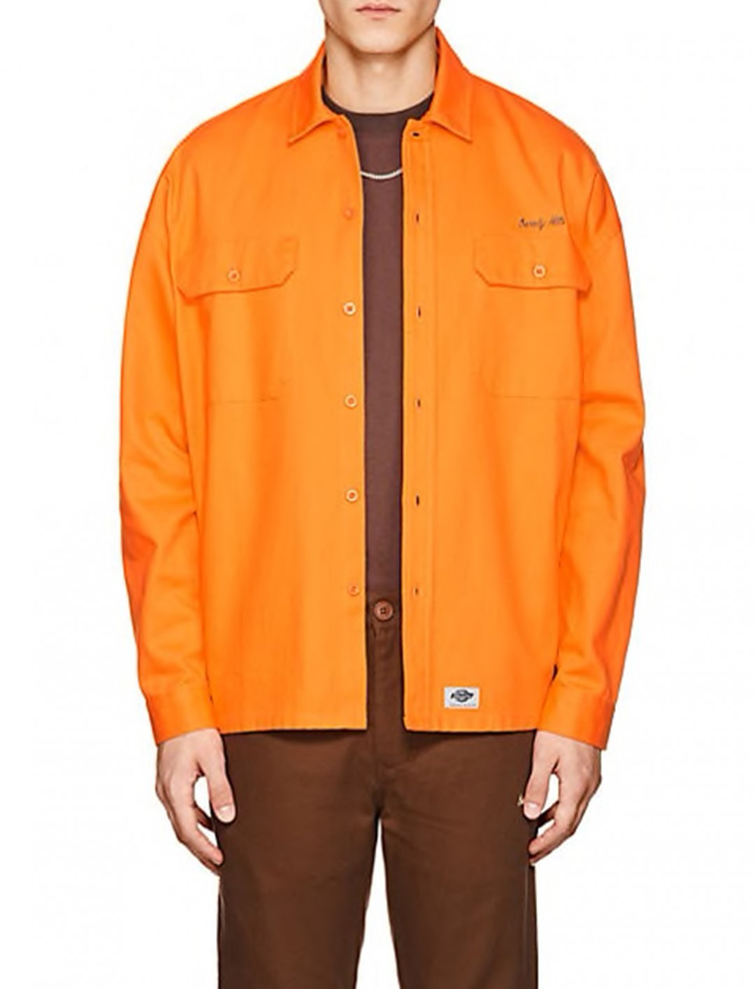 "Calvin Harris' Oversized Workshirt {""id"":5,""product_section_id"":1,""name"":""Clothing"",""order"":5} Dickies Construct"
