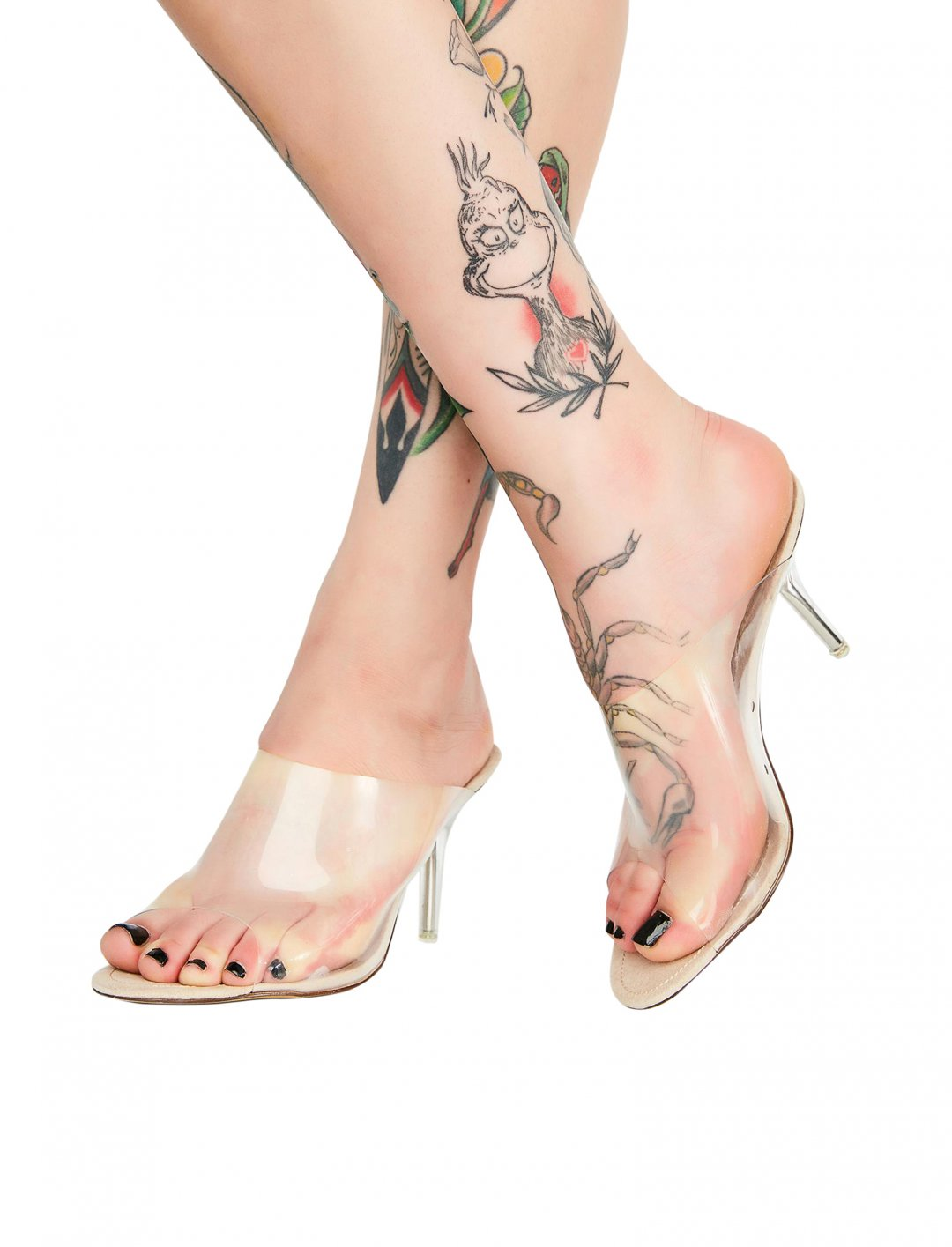 "Clear PVC Mules {""id"":12,""product_section_id"":1,""name"":""Shoes"",""order"":12} Dolls Kill"