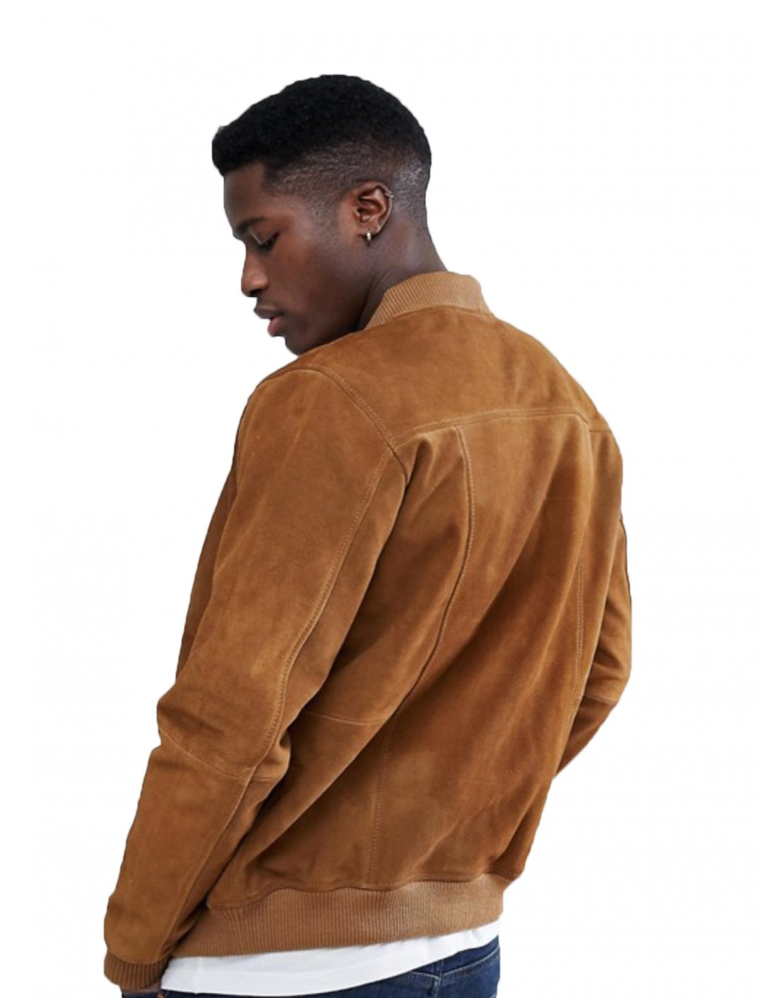 "Suede Bomber Jacket {""id"":5,""product_section_id"":1,""name"":""Clothing"",""order"":5} Esprit"