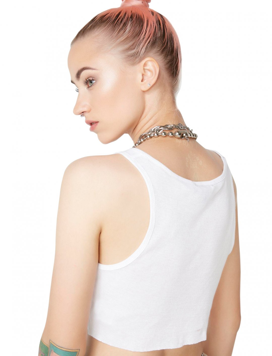 "White Rib Crop Top {""id"":5,""product_section_id"":1,""name"":""Clothing"",""order"":5} Current Mood"