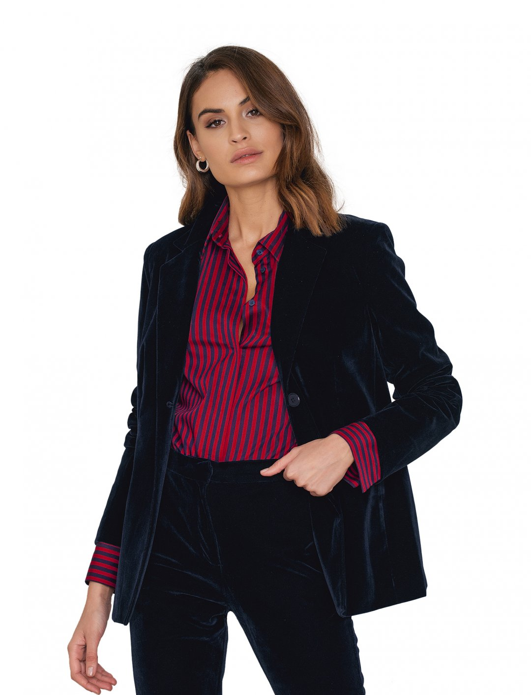 """NA-KD Party Velvet Loose Fit Blazer {""""id"""":5,""""product_section_id"""":1,""""name"""":""""Clothing"""",""""order"""":5} NA-KD Party"""