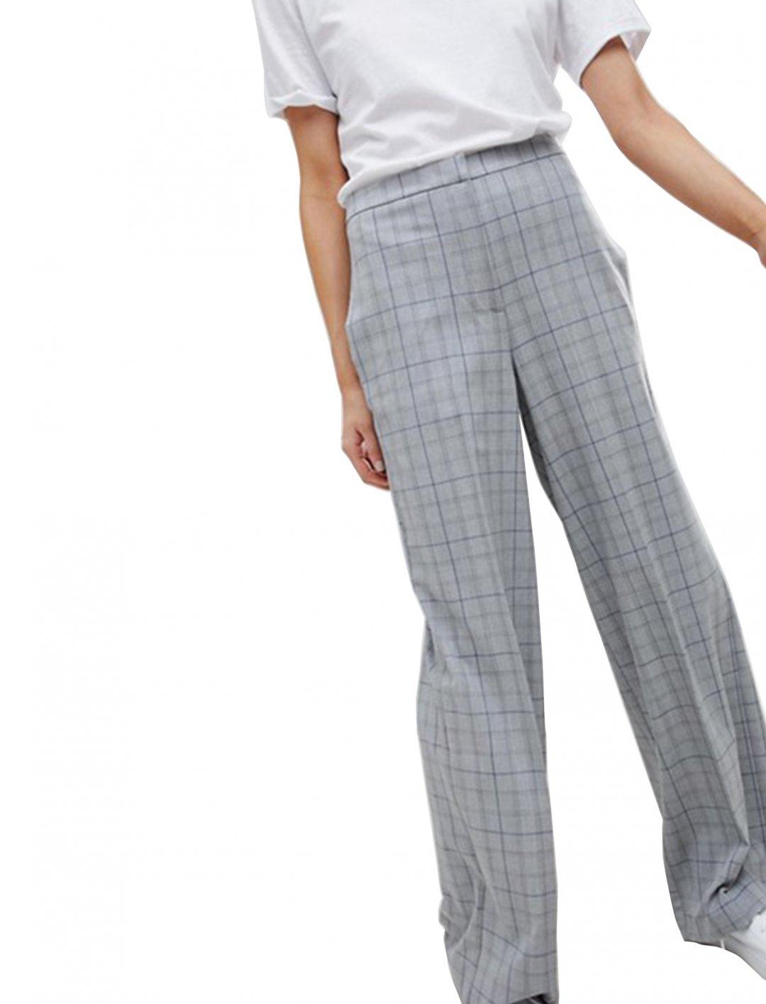 Asos Check Wide Leg Trousers Clothing Asos