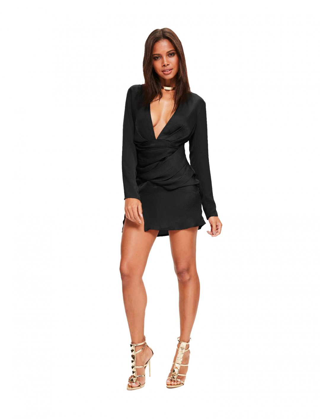 Missguided Black Shift Dress Clothing Missguided