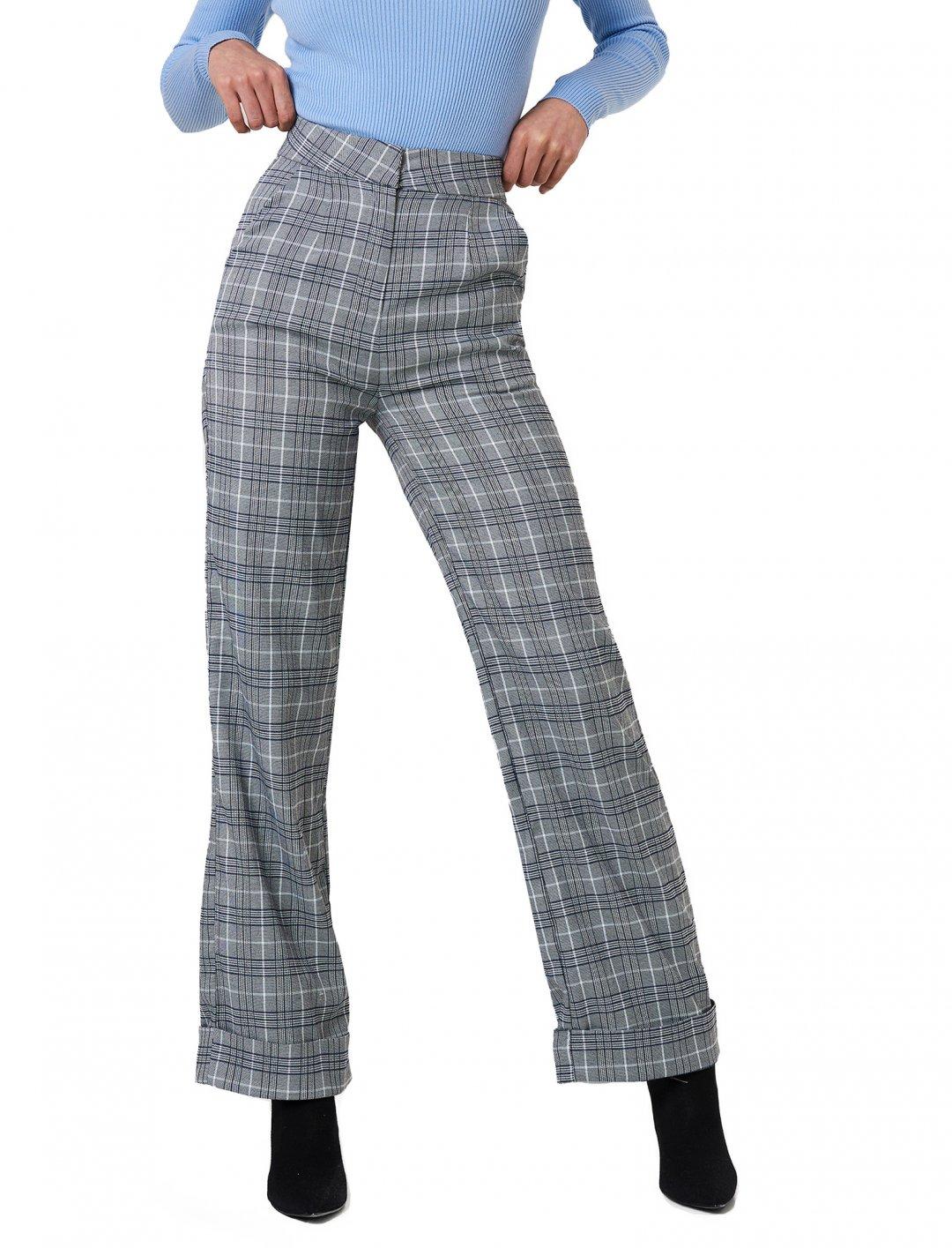 NA-KD Checkered Tapered Pants Clothing Naked
