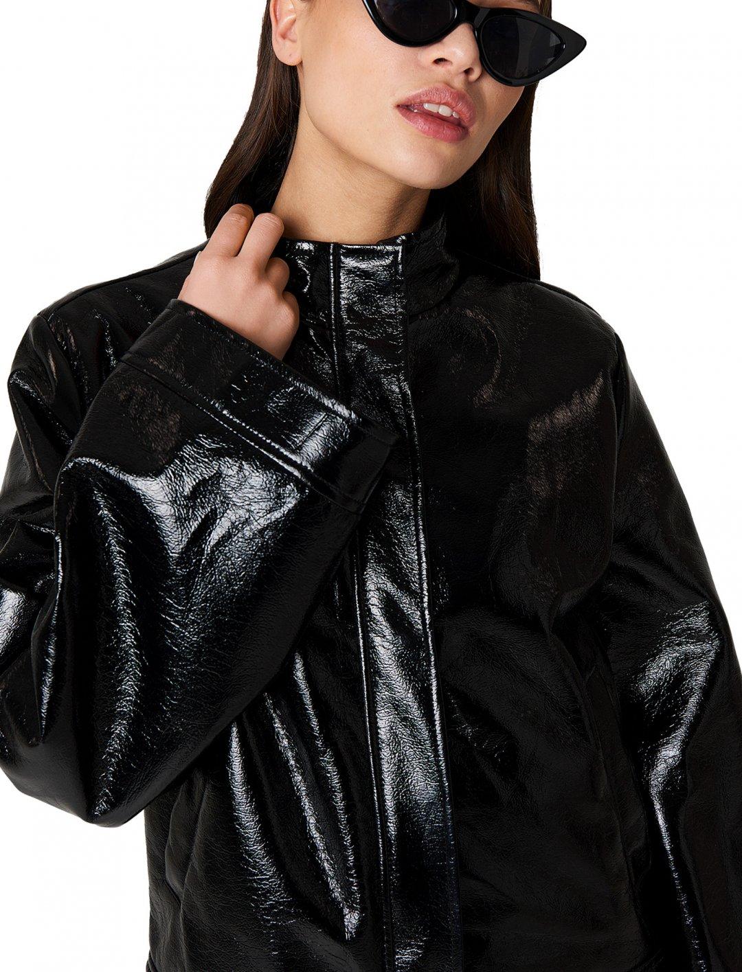 NA-KD Wide Sleeve Patent Jacket Clothing Naked