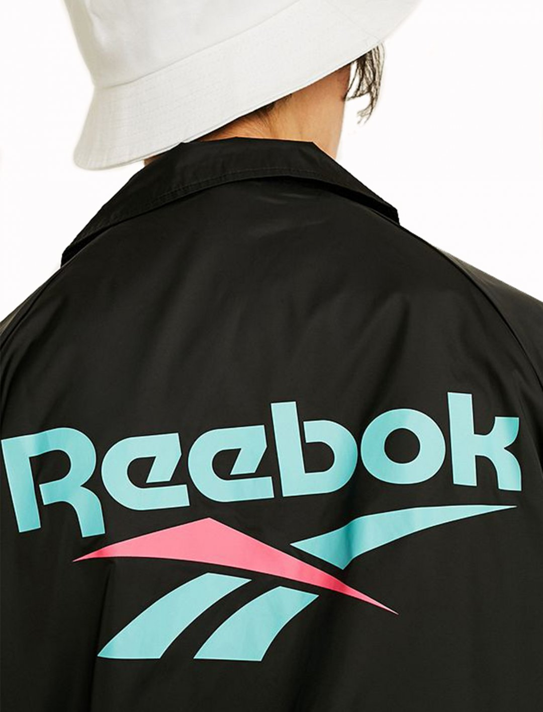 "Reebok Black Coach Jacket {""id"":5,""product_section_id"":1,""name"":""Clothing"",""order"":5} Reebok"