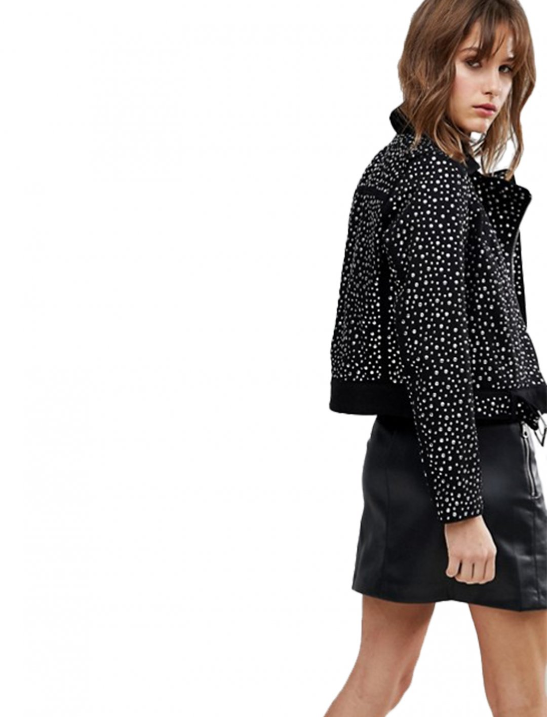 "Asos Studded Jacket {""id"":5,""product_section_id"":1,""name"":""Clothing"",""order"":5} Asos"