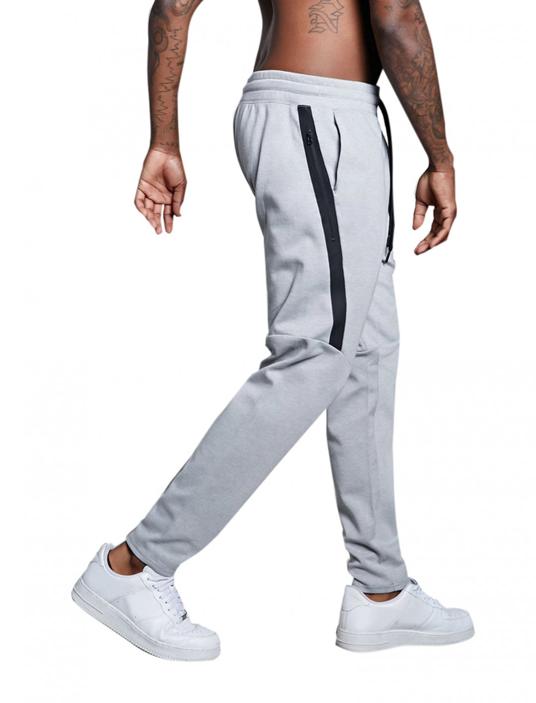 "Forever21 Leather Stripe Sweatpants {""id"":5,""product_section_id"":1,""name"":""Clothing"",""order"":5} Forever21"