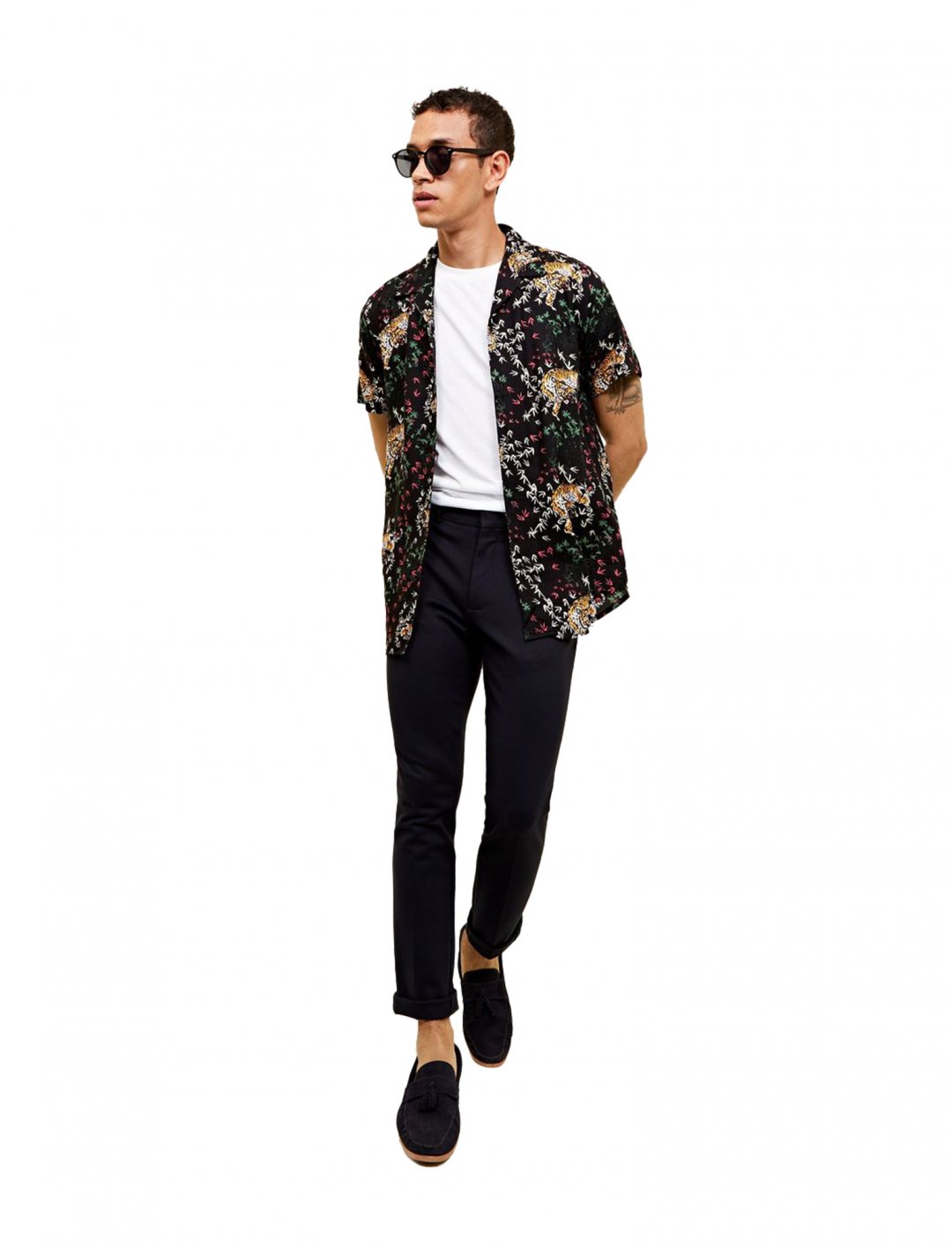 "New Look Tiger Print Shirt {""id"":5,""product_section_id"":1,""name"":""Clothing"",""order"":5} New Look"