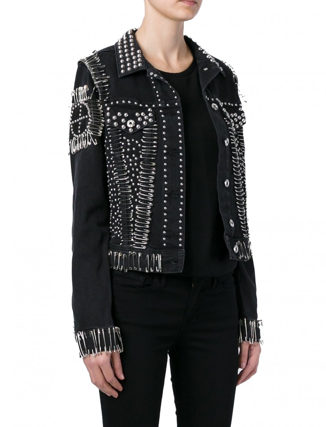 "Zhavia's Safety Pin Jacket {""id"":5,""product_section_id"":1,""name"":""Clothing"",""order"":5} Diesel"