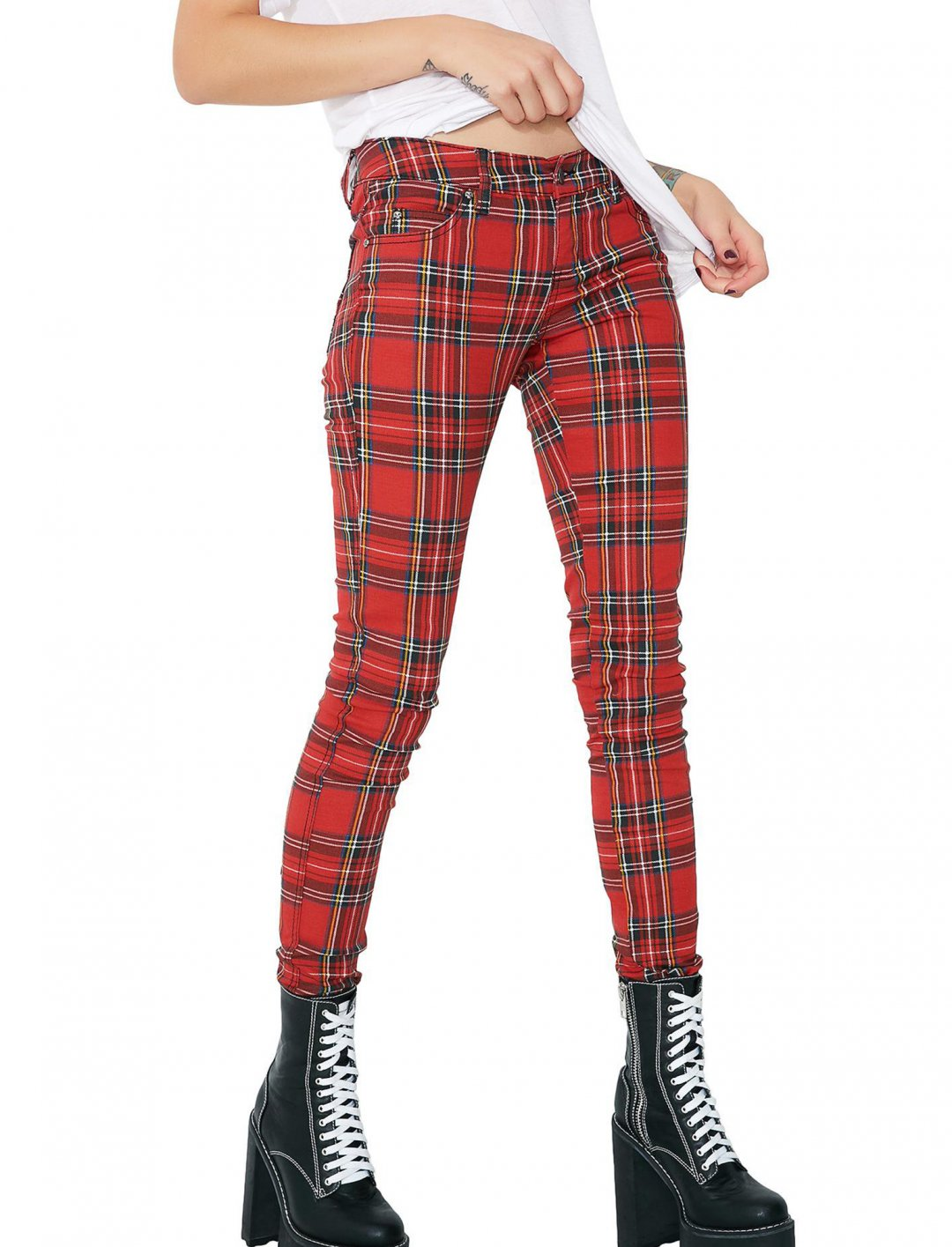 "Zhavia's Tartan Plaid Pants {""id"":5,""product_section_id"":1,""name"":""Clothing"",""order"":5} Tripp NYC"