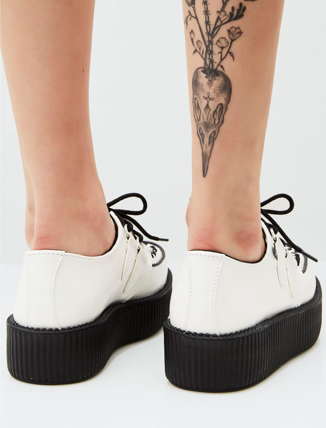 "Zhavia's White Creepers {""id"":12,""product_section_id"":1,""name"":""Shoes"",""order"":12} T.U.K."