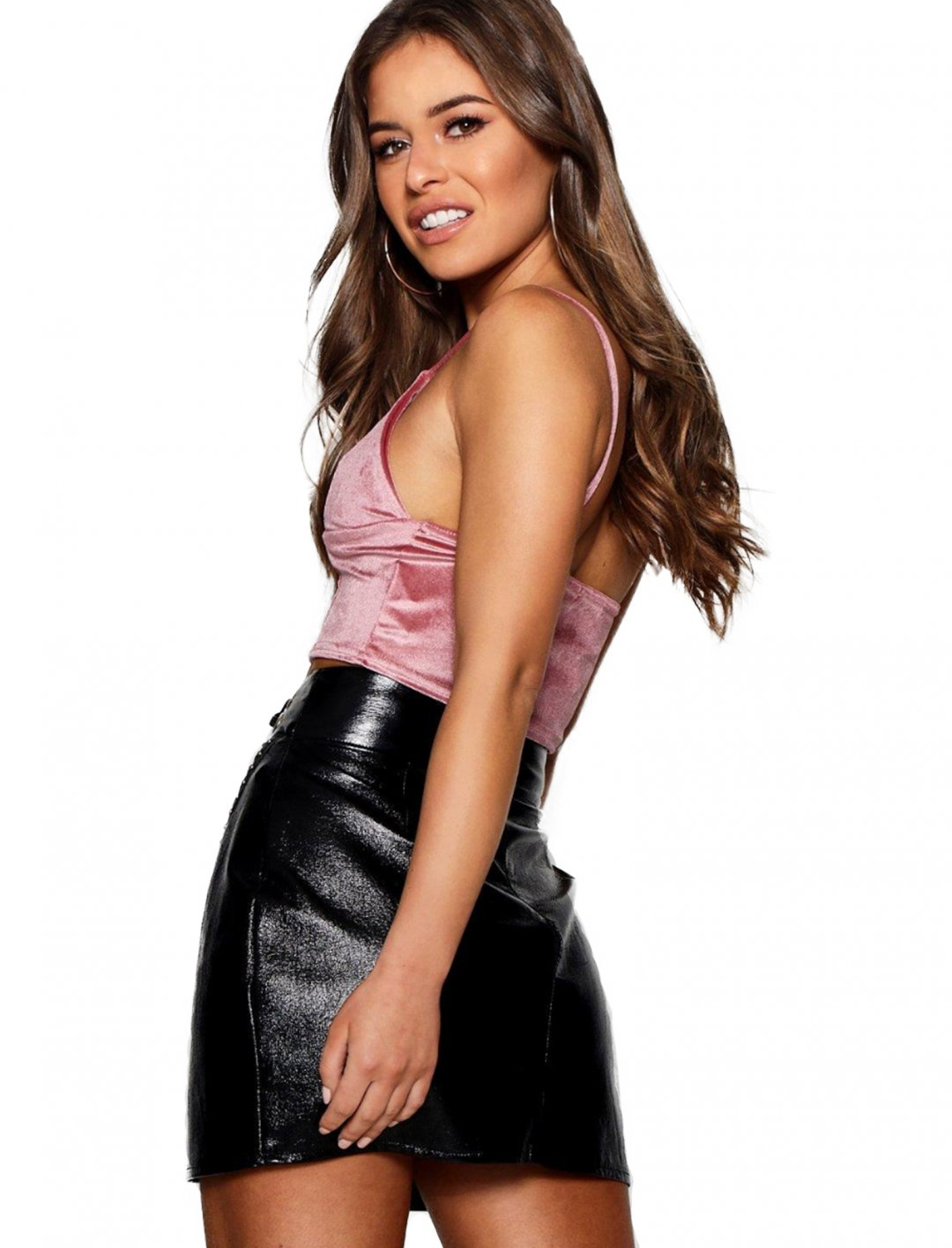 """Boohoo Velvet Bralet {""""id"""":5,""""product_section_id"""":1,""""name"""":""""Clothing"""",""""order"""":5} Boohoo"""