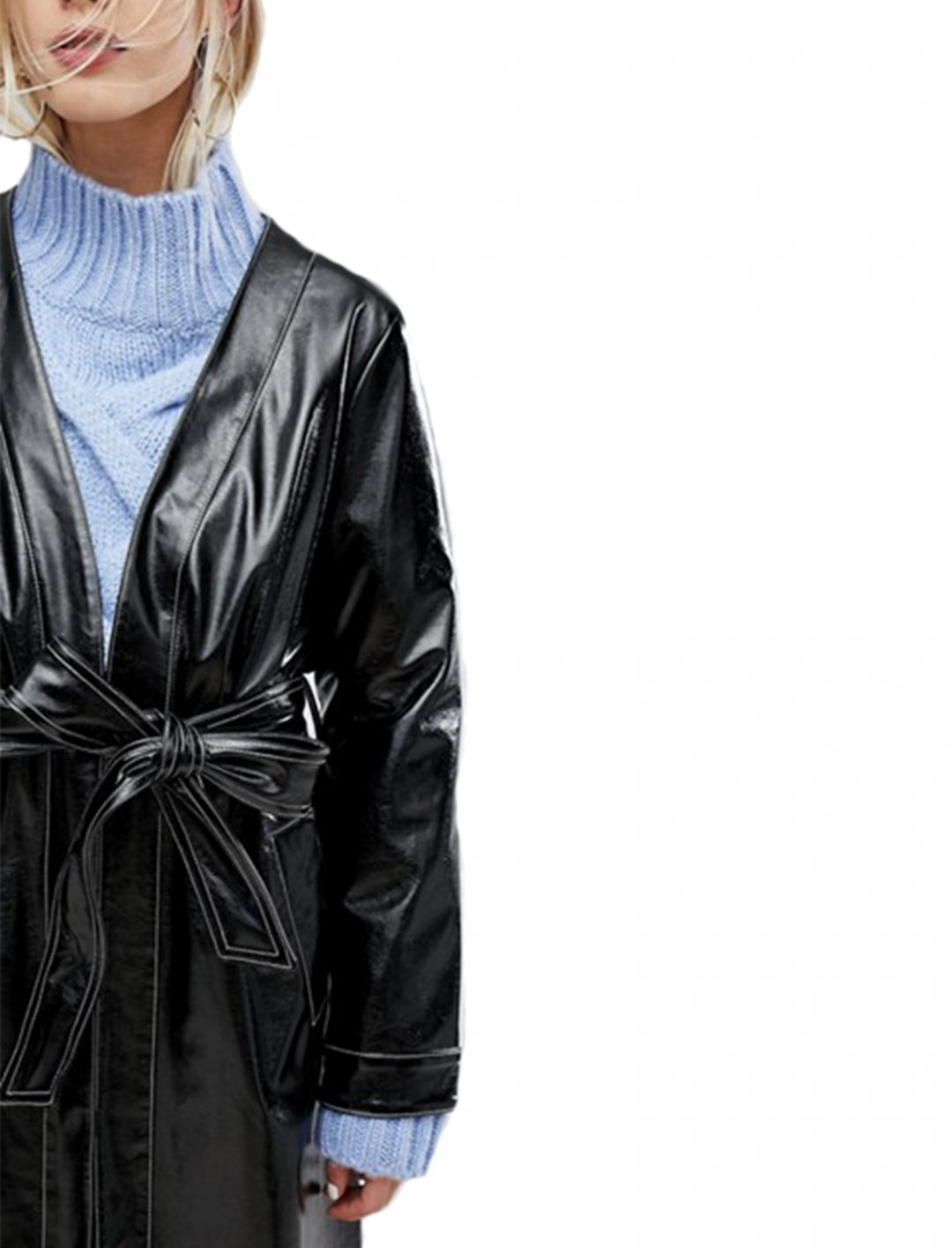 """Current Air Vinyl Long Jacket {""""id"""":5,""""product_section_id"""":1,""""name"""":""""Clothing"""",""""order"""":5} Current Air"""