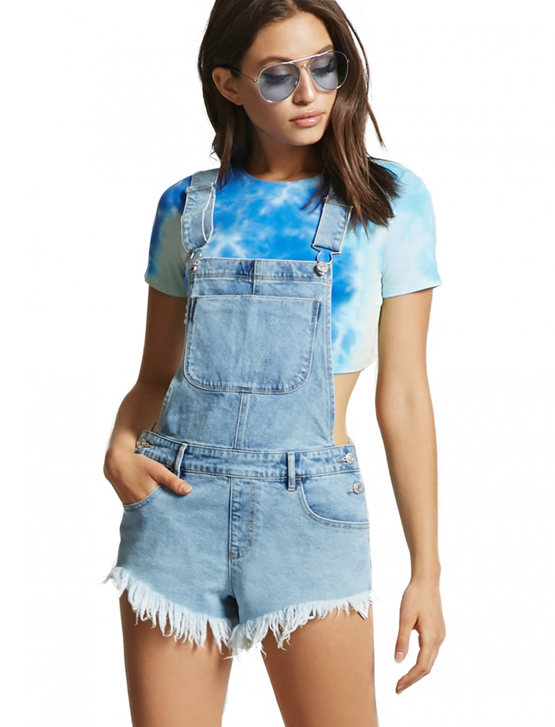 """Forever21 Denim Overall Shorts {""""id"""":5,""""product_section_id"""":1,""""name"""":""""Clothing"""",""""order"""":5} Forever21"""
