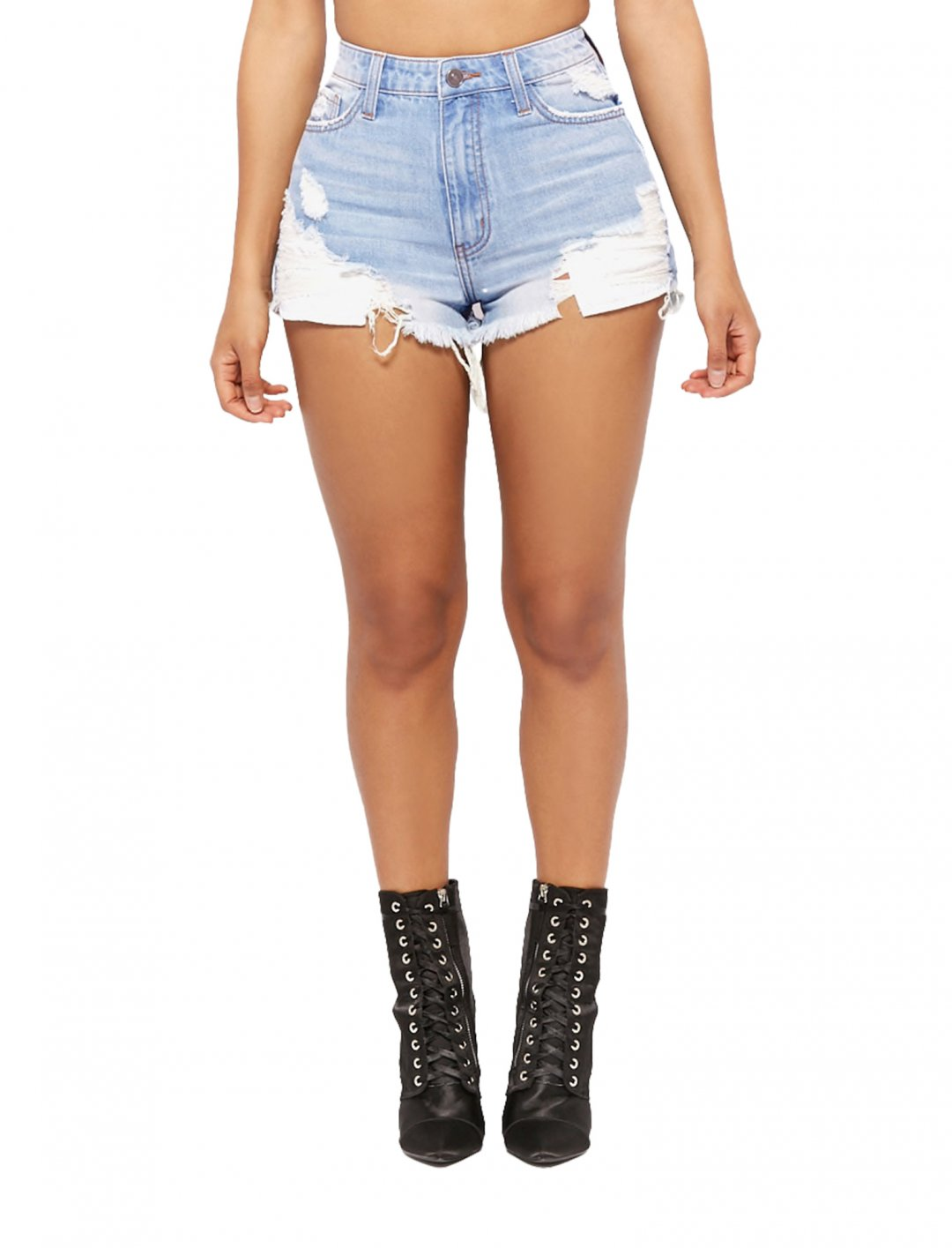 """Forever21 Distressed Denim Shorts {""""id"""":5,""""product_section_id"""":1,""""name"""":""""Clothing"""",""""order"""":5} Forever21"""