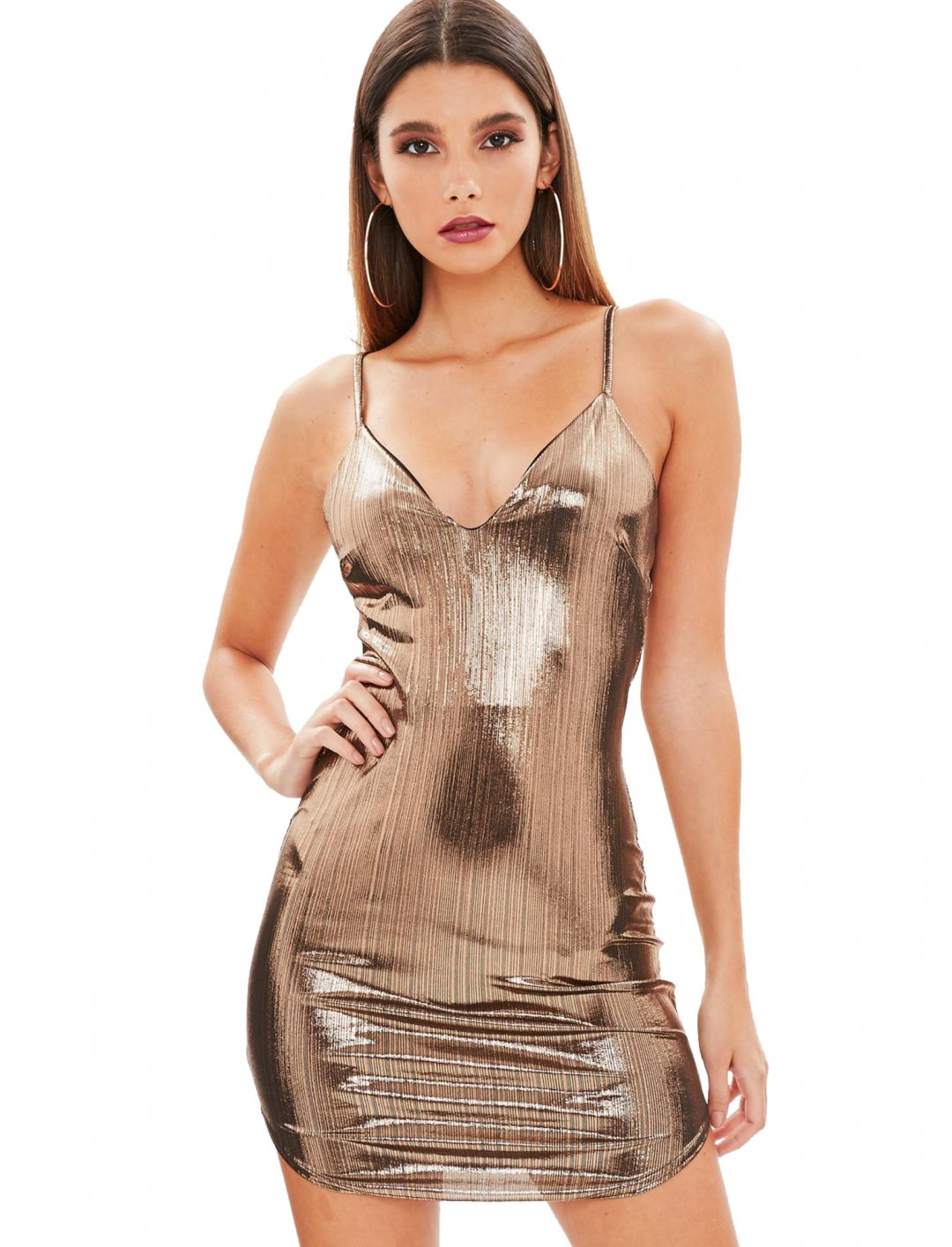 """Missguided Gold Bodycon Dress {""""id"""":5,""""product_section_id"""":1,""""name"""":""""Clothing"""",""""order"""":5} Missguided"""