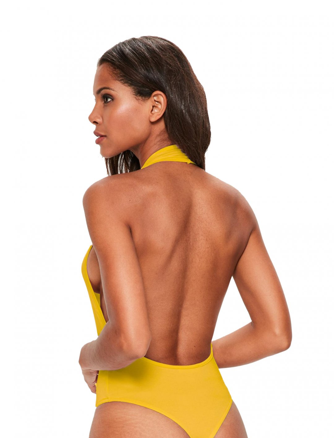 """Missguided Mustard Plunge Bodysuit {""""id"""":5,""""product_section_id"""":1,""""name"""":""""Clothing"""",""""order"""":5} Missguided"""