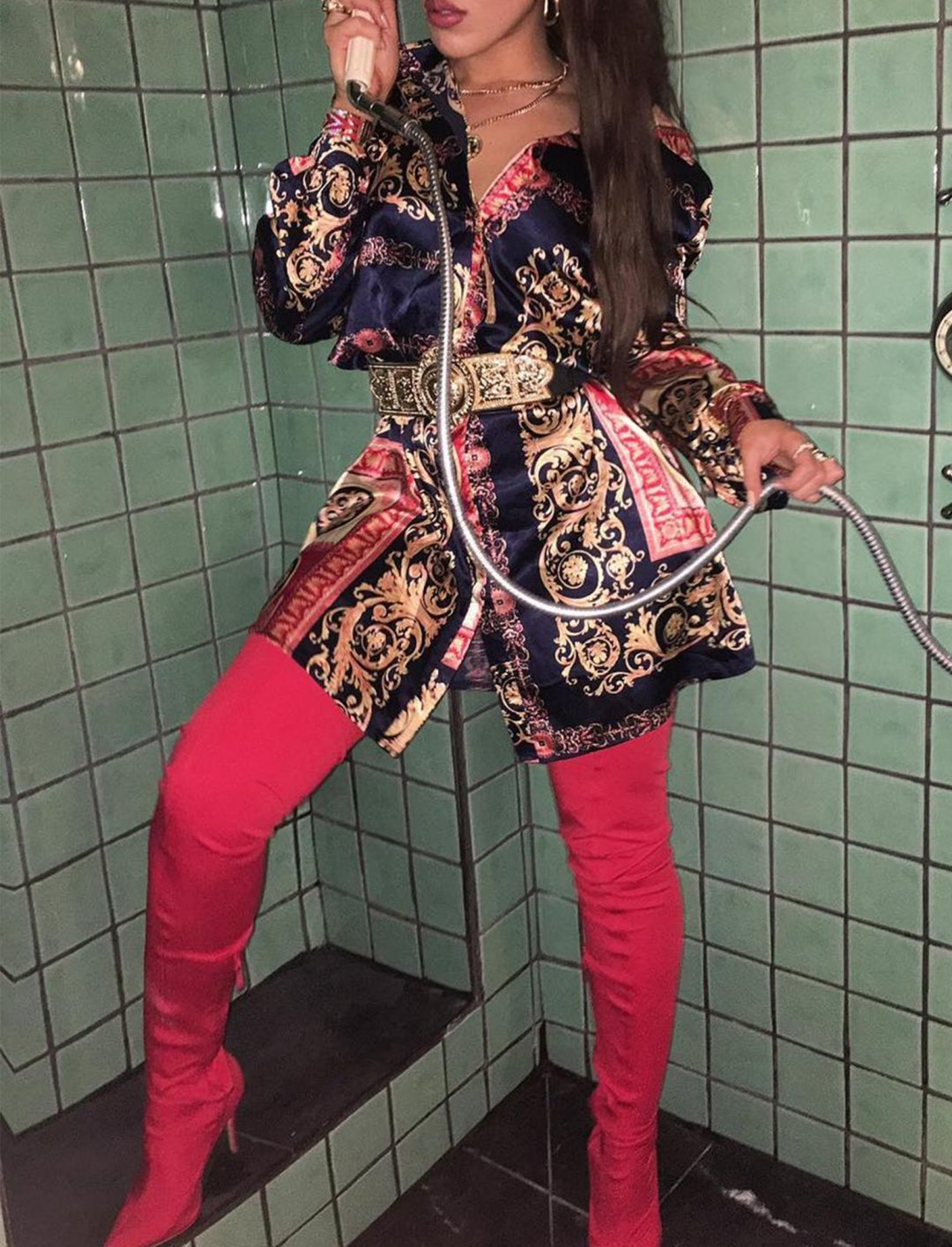 """Missguided Red Thigh High Boots {""""id"""":12,""""product_section_id"""":1,""""name"""":""""Shoes"""",""""order"""":12} Missguided"""