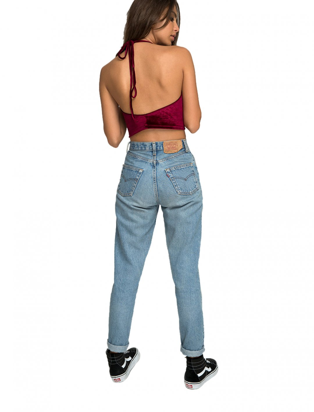 """Motel Velvet Crop Top {""""id"""":5,""""product_section_id"""":1,""""name"""":""""Clothing"""",""""order"""":5} Motel"""
