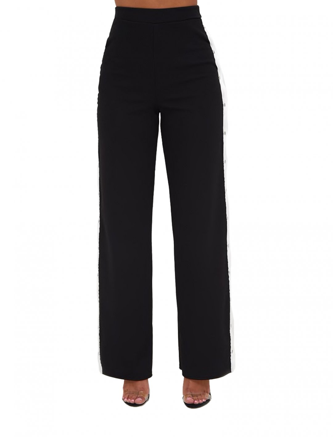 """Side Stripe Popper Trousers {""""id"""":5,""""product_section_id"""":1,""""name"""":""""Clothing"""",""""order"""":5} Pretty Little Thing"""