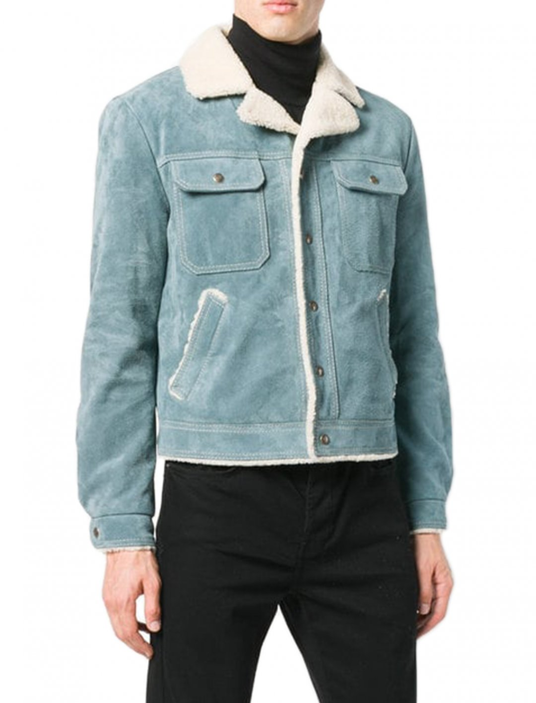 "Anthony Russo's Shearling Jacket {""id"":5,""product_section_id"":1,""name"":""Clothing"",""order"":5} Saint Laurent"