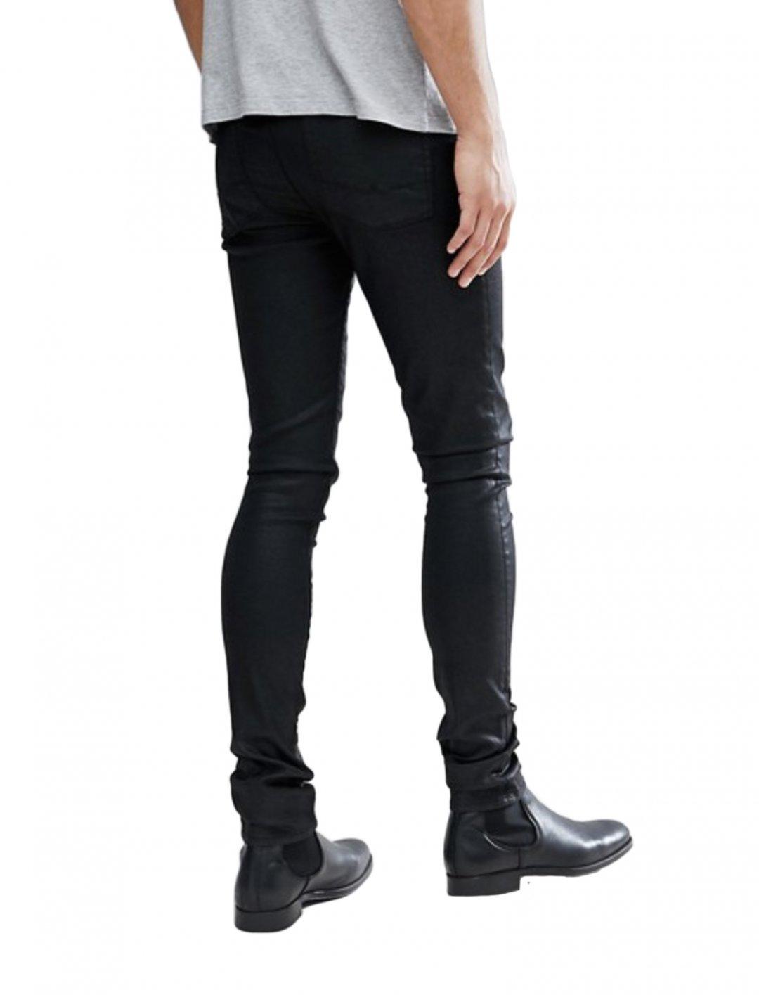 "Coated Skinny Jeans {""id"":5,""product_section_id"":1,""name"":""Clothing"",""order"":5} ASOS DESIGN"