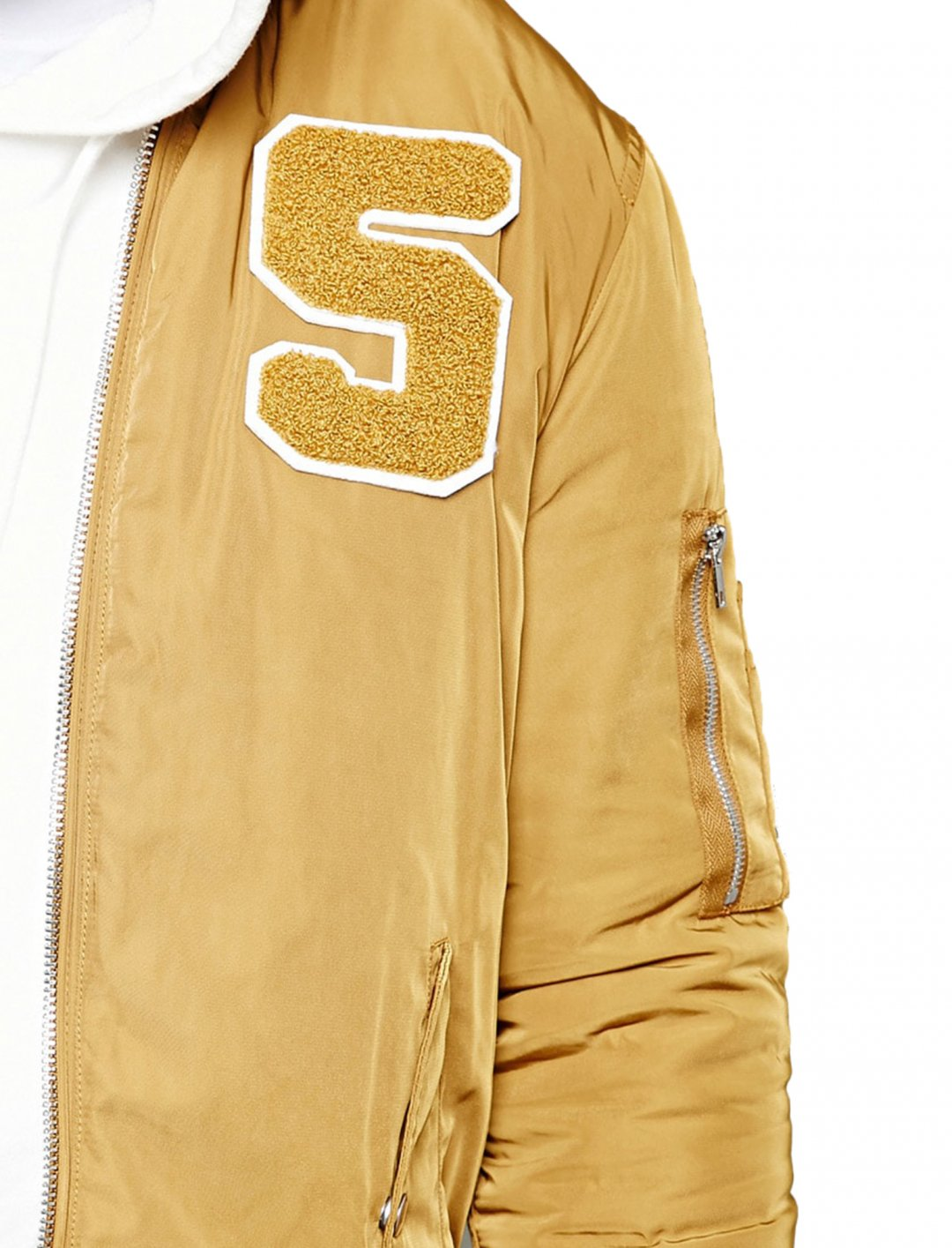 "Forever21 Varsity Bomber Jacket {""id"":5,""product_section_id"":1,""name"":""Clothing"",""order"":5} Forever21"