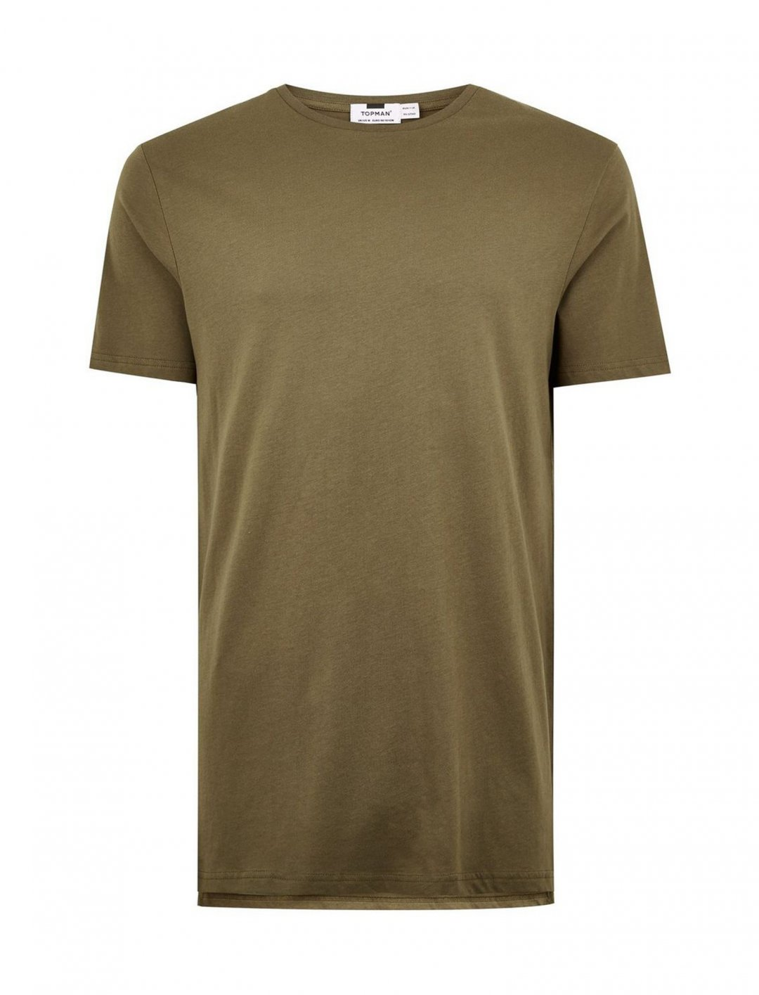 "Khaki Longline T-Shirt {""id"":5,""product_section_id"":1,""name"":""Clothing"",""order"":5} Topman"