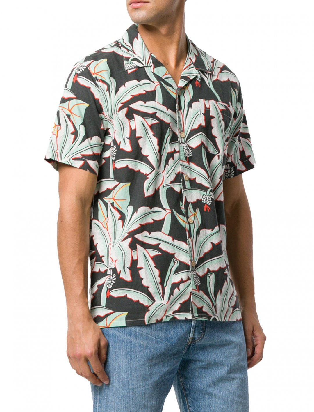 "Levi's Tropical Print Shirt {""id"":5,""product_section_id"":1,""name"":""Clothing"",""order"":5} Levi's"