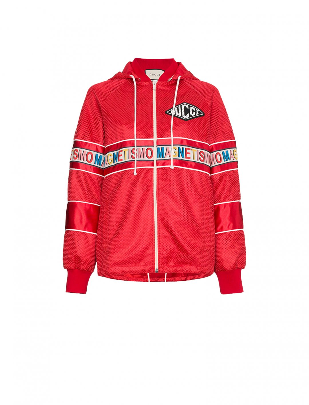 "Magnetismo Stripe Net Jacket {""id"":5,""product_section_id"":1,""name"":""Clothing"",""order"":5} Gucci"