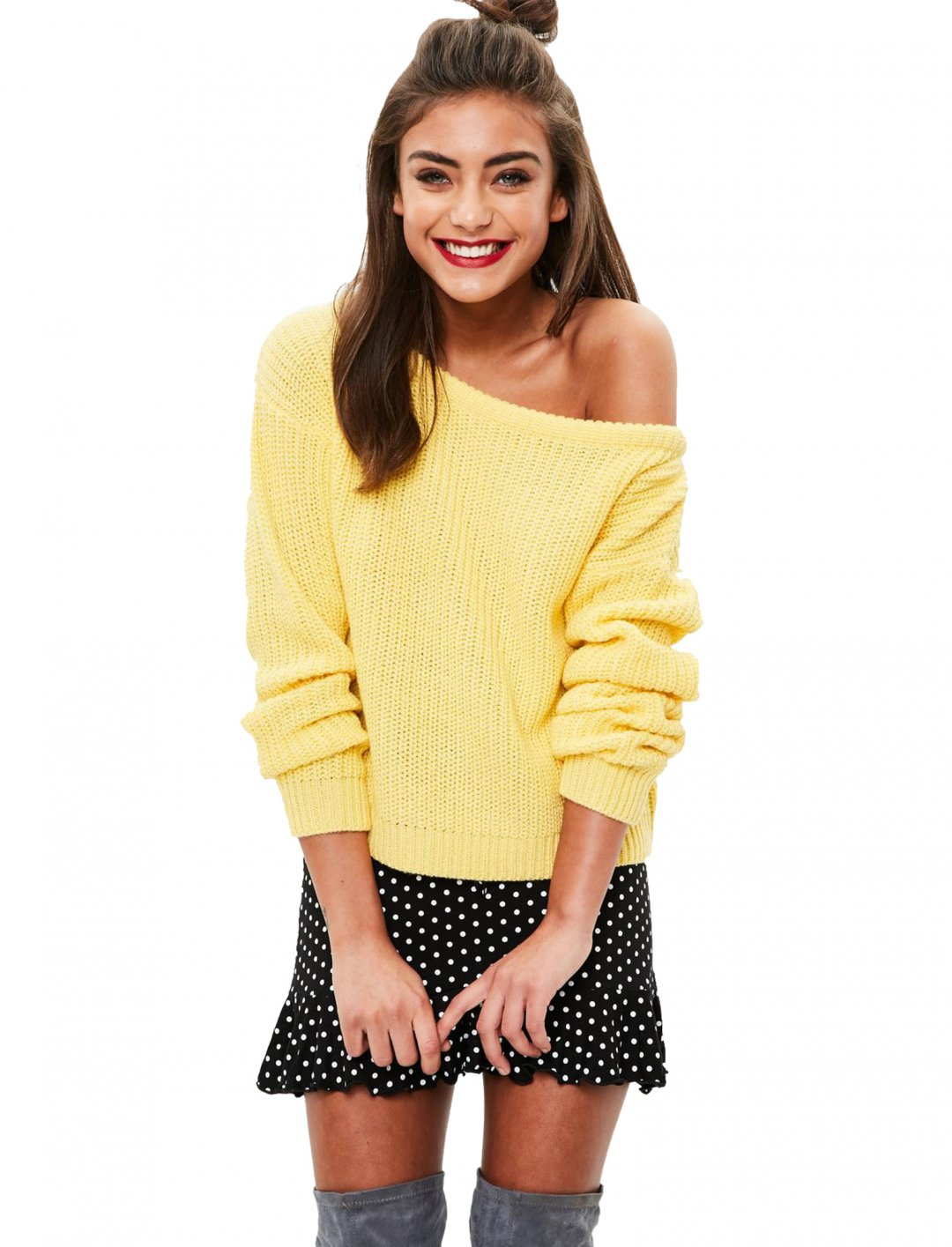 "Missguided Knitted Jumper {""id"":5,""product_section_id"":1,""name"":""Clothing"",""order"":5} Missguided"