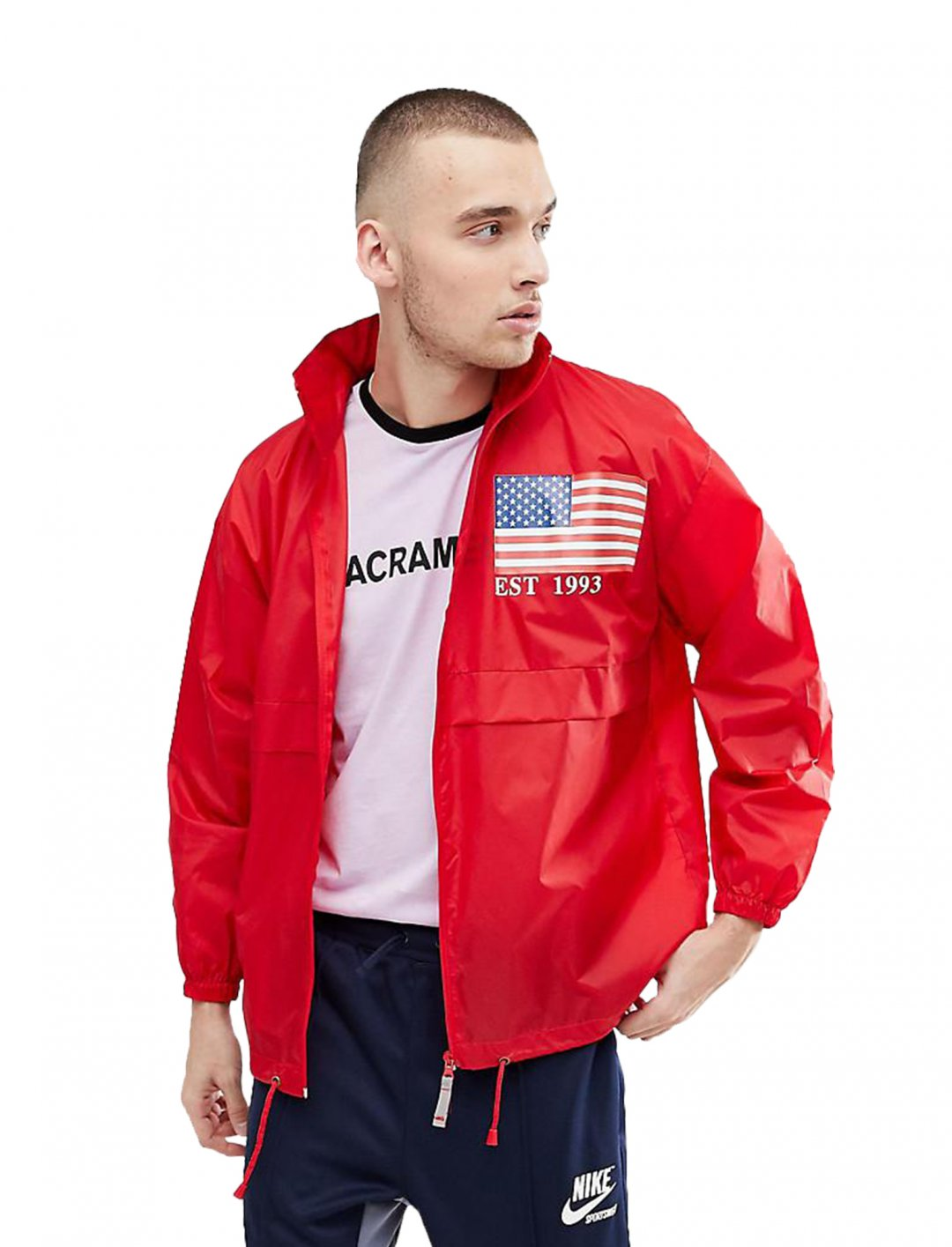"Reclaimed Vintage Revived Windbreaker {""id"":5,""product_section_id"":1,""name"":""Clothing"",""order"":5} Reclaimed Vintage"
