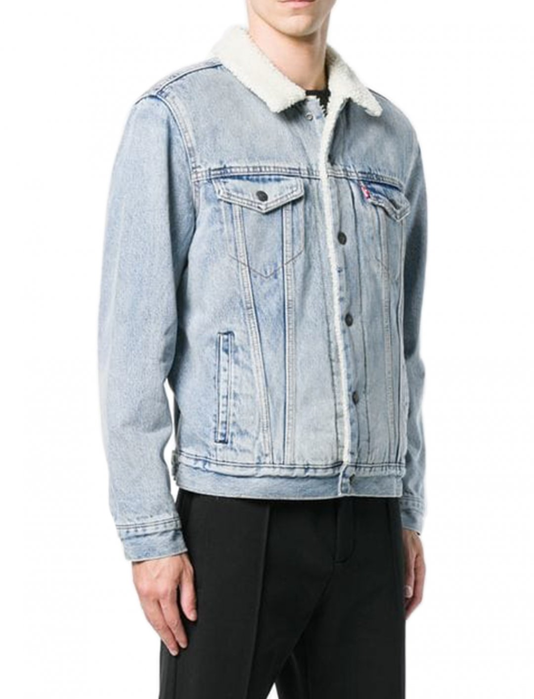 "Sherpa Trucker Jacket {""id"":5,""product_section_id"":1,""name"":""Clothing"",""order"":5} Levi's"