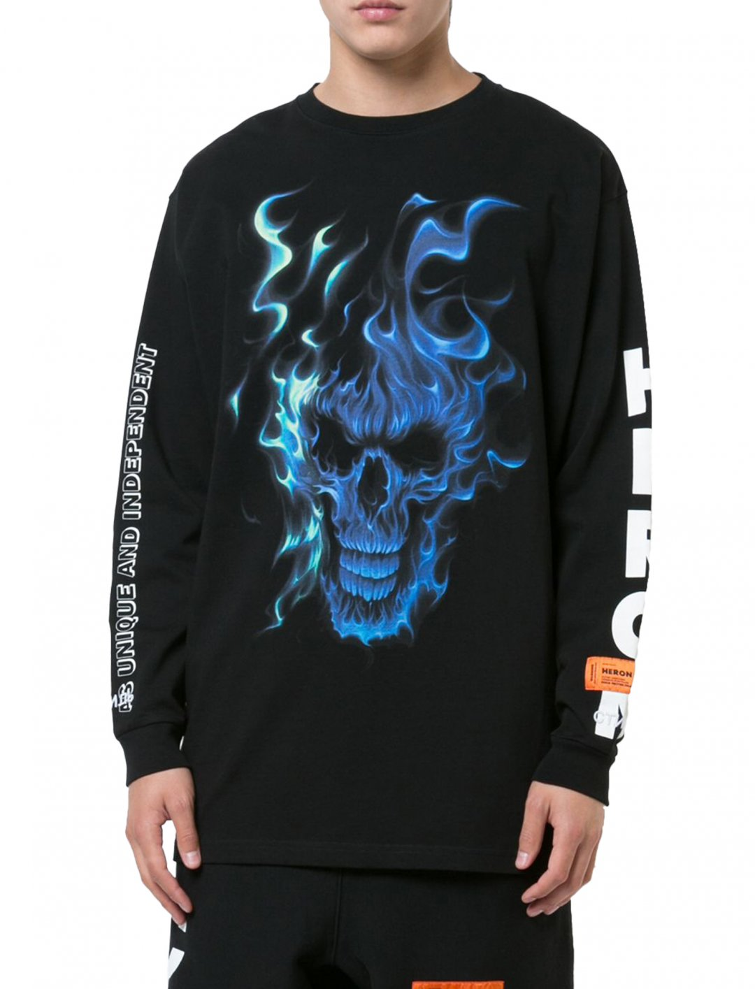 "Skull Print Sweatshirt {""id"":5,""product_section_id"":1,""name"":""Clothing"",""order"":5} Heron Preston"