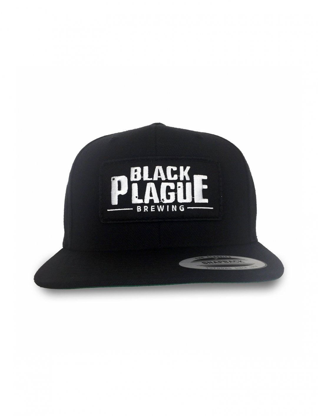 "Snapback Hat {""id"":16,""product_section_id"":1,""name"":""Accessories"",""order"":15} Black Plague Brewing"