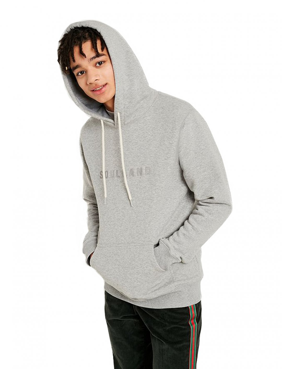 "Soulland Guy Grey Hoodie {""id"":5,""product_section_id"":1,""name"":""Clothing"",""order"":5} Soulland"