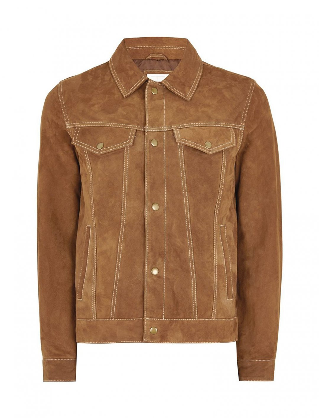 "Tan Suede Western Jacket {""id"":5,""product_section_id"":1,""name"":""Clothing"",""order"":5} Topman"