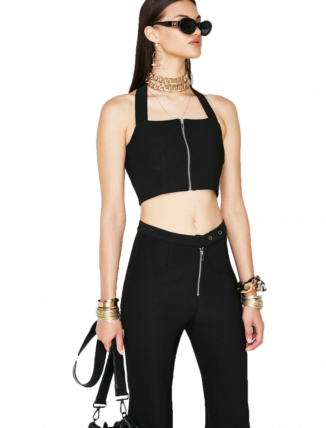"Black Halter Top {""id"":5,""product_section_id"":1,""name"":""Clothing"",""order"":5} Twiin"