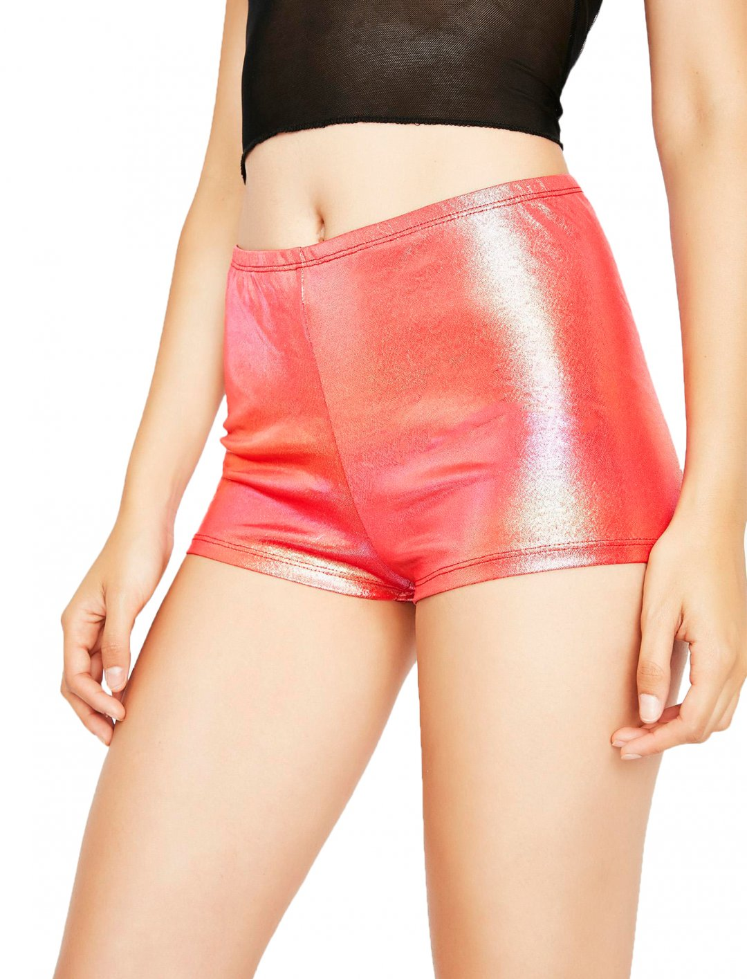 "Metallic Rave Shorts {""id"":5,""product_section_id"":1,""name"":""Clothing"",""order"":5} Dolls Kill"