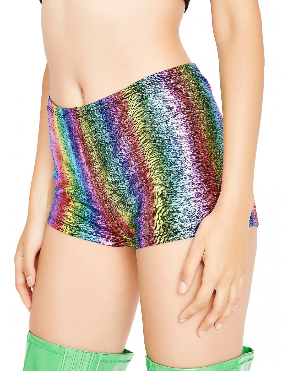 "Rainbow Rave Shorts {""id"":5,""product_section_id"":1,""name"":""Clothing"",""order"":5} Dolls Kill"