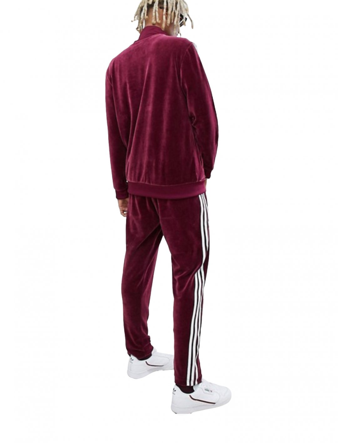 "Red Velour Joggers {""id"":5,""product_section_id"":1,""name"":""Clothing"",""order"":5} adidas Originals"