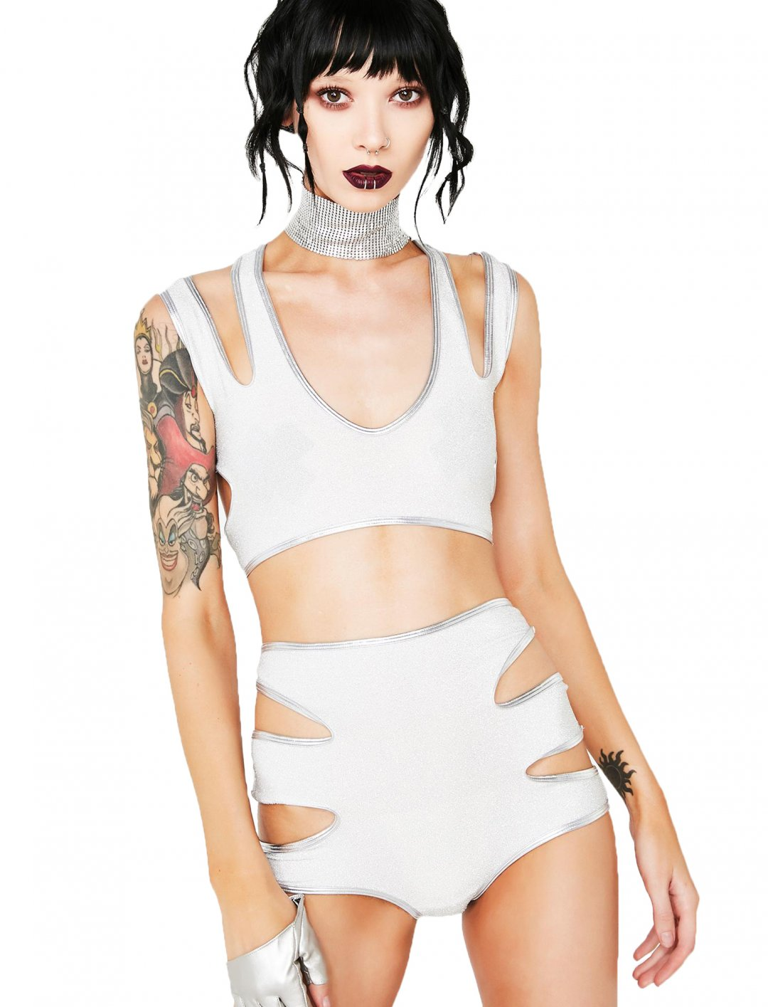 "Silver Cutout Set {""id"":5,""product_section_id"":1,""name"":""Clothing"",""order"":5} Dolls Kill"