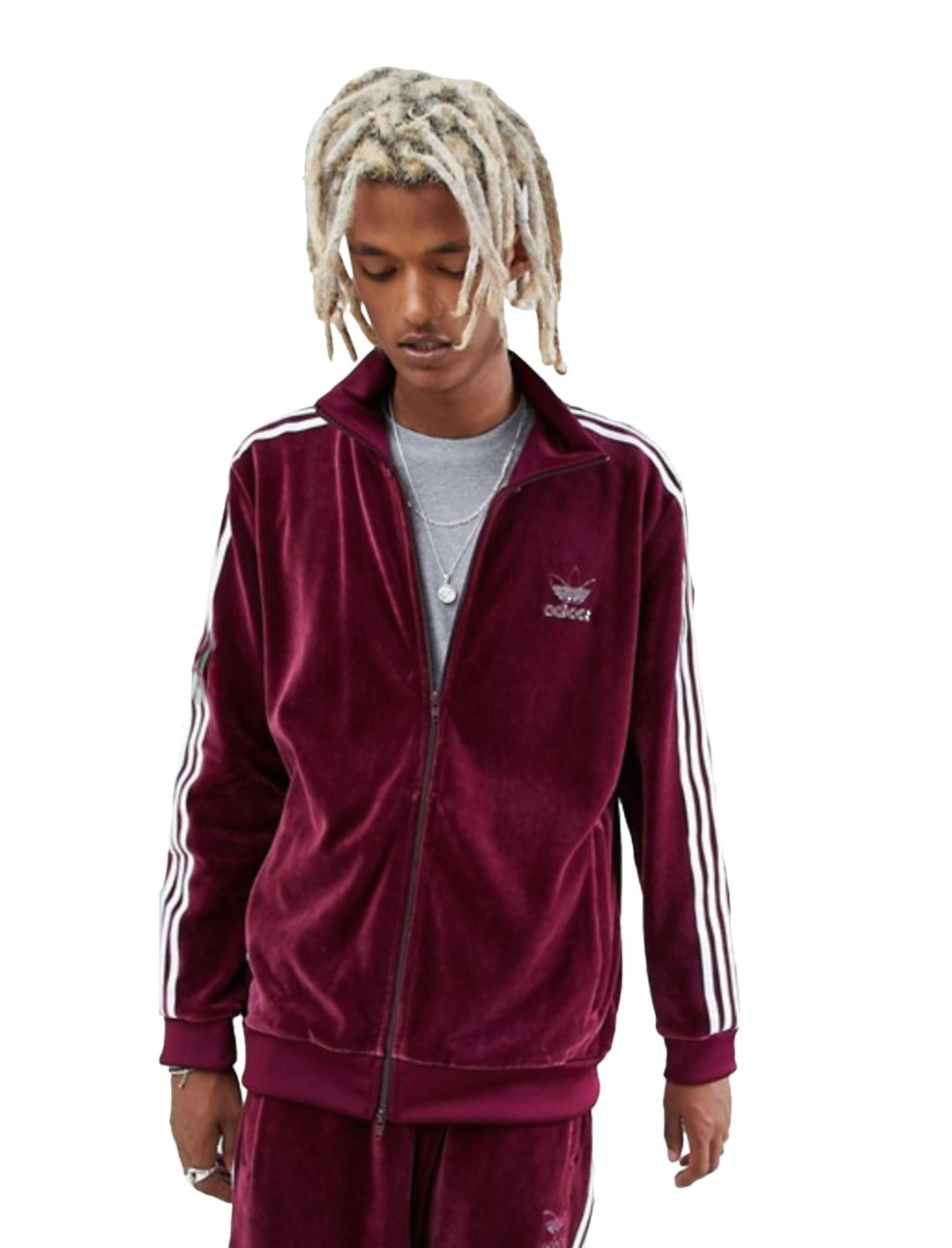 "Velour Hoodie {""id"":5,""product_section_id"":1,""name"":""Clothing"",""order"":5} adidas Originals"